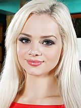 In the Crack Pics: Photo Set No. 1299 Elsa Jean bares her own god given jugs and exposes those natural snatch